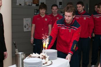Michal Mareš slavil narozeniny, přál mu celý tým
